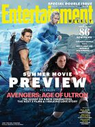 Entertainment Weekly Cover Hawkeye, Quicksilver, Scarlett Witch