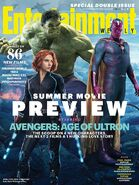 Entertainment Weekly Cover Hulk, Black Widow und Vision