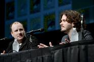 Kevin Feie und Edgar Wright 2012 auf der Comic Con