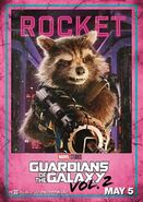 Guardians of the Galaxy Vol.2 Charakterposter Rocket