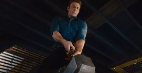 Captain-America-Lifting-Thors-Hammer-Avengers-Age-of-Ultron