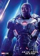 Avengers - Infinity War - Deutsches War Machine Poster