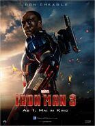 Iron Man 3 deutsches Charakterposter Iron Patriot