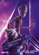 Avengers - Infinity War - Deutsches Rocket, Groot Poster