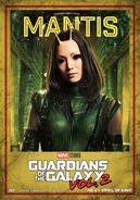 Guardians of the Galaxy Vol.2 deutsches Charakterposter Mantis