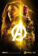 Avengers Infinity War - Poster - Gelb