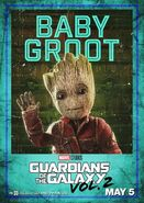 Guardians of the Galaxy Vol.2 Charakterposter Baby Groot