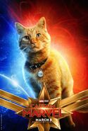 Captain Marvel Charakterposter Goose