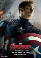 Avengers Age of Ultron deutsches Charakterposter Captain America