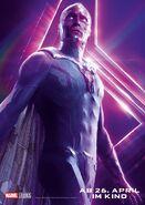 Avengers - Infinity War - Deutsches Vision Poster