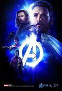 Avengers Infinity War - Poster - Blau