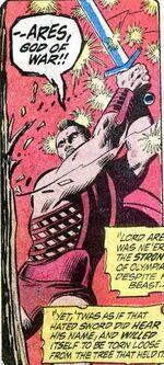 Ares met het Ebony Blade