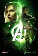 Avengers Infinity War - Poster - Grün