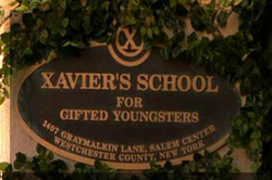 Xaviers Institut Schild