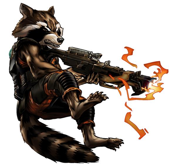 Image Guardian Rocket Raccoon Portrait Art Png Marvel