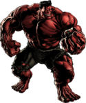 Red Hulk Portrait Art