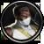 Weiße Gorilla-Schläger Task Icon