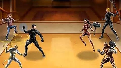 Puño de Hierro, Molly Halles y ANNHE, juntos en el PVP JCJ 21. Marvel Avengers Alliance.