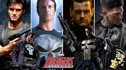 PUNISHER's Moves Set Marvel Avengers Alliance Conjunto de Movimientos del Castigador Francis Castle