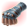Zerrissene Handschuhe