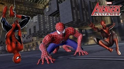 SPIDER-MAN 's Moves Set Marvel Avengers Alliance Movimientos Hombre Araña Peter Benjamin Parker MAA