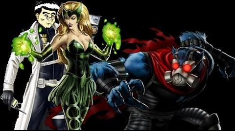 PRE PVP 24 Enchantress & Beast. Marvel Avengers Alliance ANNHE.