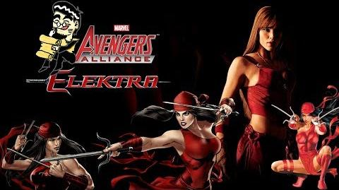 ELEKTRA's Moves Set Marvel Avengers Alliance Conjunto de Movimientos de Elektra Natchios de Marvel