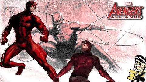 DAREDEVIL's Moves Set Marvel Avengers Alliance Conjunto de Movimientos de Dare Devil Dan Defensor