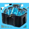 Instabiles ISO blau Box Box Icon
