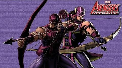 HAWKEYE's Moves Set Marvel Avengers Alliance Conjunto de Movimientos Ojo de Halcón Clinton F
