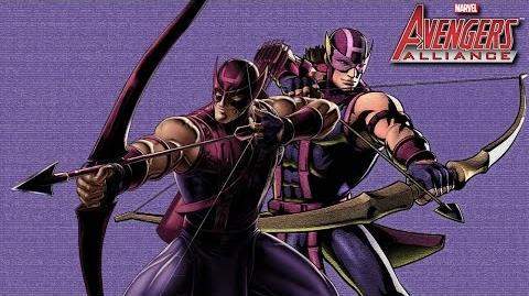HAWKEYE's Moves Set Marvel Avengers Alliance Conjunto de Movimientos Ojo de Halcón Clinton F