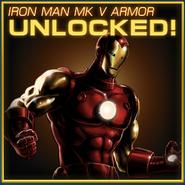Iron Man Mk V Armor Unlocked