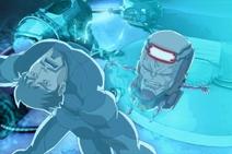 M.O.D.O.K. steals Iron Man armor