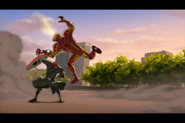 File:Iron Man pushed by Red Skull.png