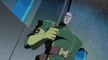 Baron Strucker with sword
