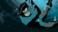 Bucky falls into the ocean after Cap alters reality
