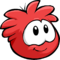 Red Puffle Smiling