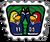 Badge victoire bleue
