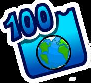 Badge des 100 Pages du Wiki
