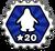 Badge 20 niveaux des mers