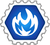 Badge CardJitsu Feu