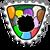 Badge Puffle en fete