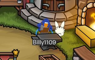 Billy en train de forger