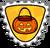 Badge chasse aux bonbons