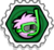 Badge aqua puffle