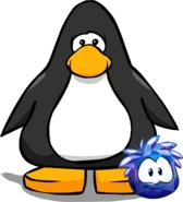 Blue Crystal Puffle on a Player Card