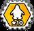 Badge 10 Niveaux des mers