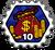 Badge 10 Sacs de pièces
