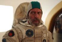 Clark in space suit