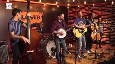 """True Sadness"" — The avett Brothers — KFOG session (bluegrass version)"